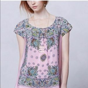 Anthro silk blouse
